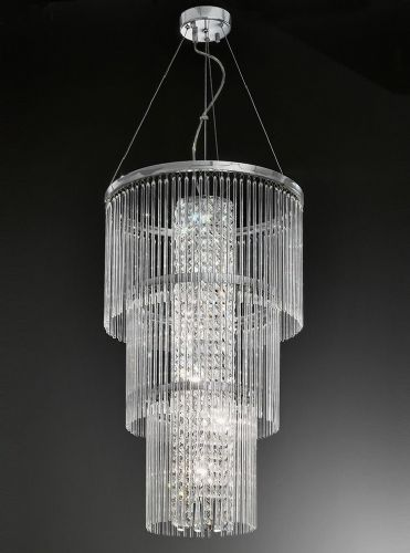 Franklite FL2310/6 Chrome Pendant Light
